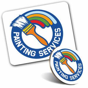 Pen /& Keyring Round Painting Services Logo Paint Brush  #7318
