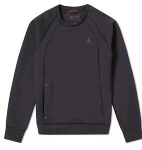 Nike Air Jordan FLIGHT TECH Crew Sweatshirt Top Jacket Jumper Hoodie ... 156b4d4d1e15