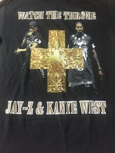 Jay-Z Kanye West 2011 Watch The Throne Tour T-Shirt Adult ...