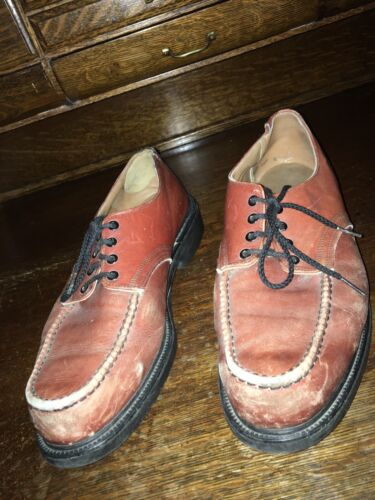 vintage red wing mens oxfords lace up brown leathe