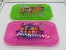 "LEGO MiniFigure FRIENDS Storage Case PINK Plastic Box Clutch NEW 11/"" x 6/"" 2"