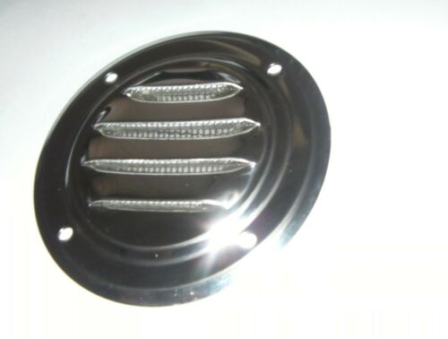 GOOD WEIGHT LOUVRE VENT WITH MOSQUITO NET MESH 63mm DIAMETER STAINLESS STEEL