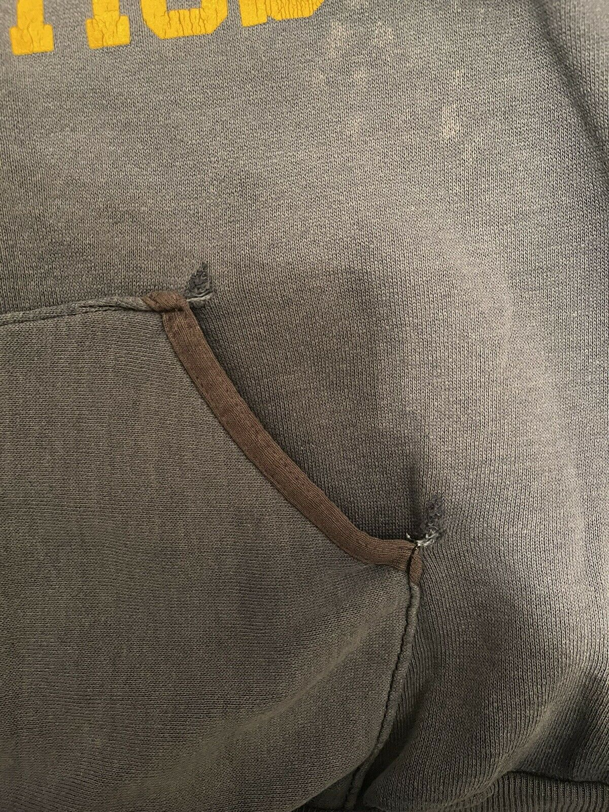 VTG 70s Sun Faded Russell Gold Tag M Hoodie Sweat… - image 9