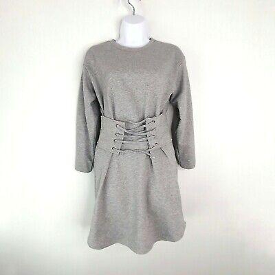 aqua gray corset tie shirt dress women's xs  ebay