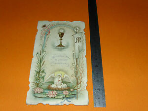 CHROMO 1926 IMAGE PIEUSE CATHOLICISME HOLY CARD SOUVENIR COMMUNION g1oQtgTa-08053426-694385631