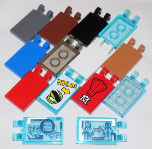 **LEGO 30350 TILE 2x3 WITH 2 CLIPS CHOOSE COLOUR /& PACK **