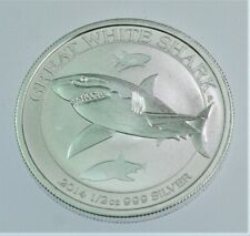 2014 Australia Great White Shark 1//2 Oz Silver BU