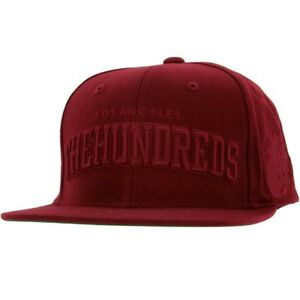 The-Hundreds-Player-Snapback-Cap-burgundy