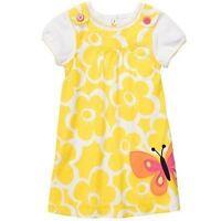 New Carter's Yellow Butterfly Jumper Dress & Top Set NWT 18m 24m 2T 3T 4T