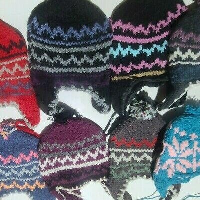 10 WOOL Blend Mixed Color Knit Warm Casual Mittens Wholesale LOT