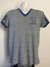 Vtg 80s Rayon Tri-Blend Nags Head North Carolina Ringer T-Shirt Heather Gray M