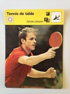 CARTE-EDITIONS-RENCONTRE-1980-TENNIS-DE-TABLE-ISTVAN-JONYER