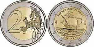 2011 PORTUGAL 2 EURO 500 Years Fernao Mendes Pinto UNC NEW COIN BI-METALLIC G239