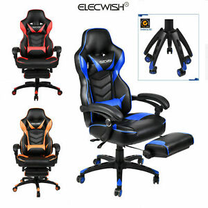 Amazing Details About Video Racing Gaming Chair Ergonomic Pu Leather Office Swivel Recliner Footrest Bralicious Painted Fabric Chair Ideas Braliciousco