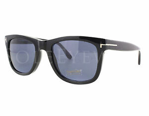 ba1e0410a54b Tom Ford Leo TF 336 01V Black FT0336 Blue Lens Sunglasses for sale ...