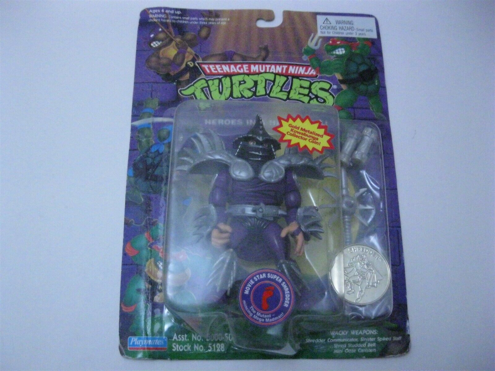 Playmates Teenage  Mutant Ninja Turtles Shrossoder with oro Coin azione cifra  acquista marca