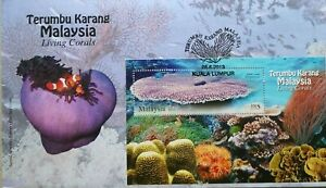 Malaysia FDC with Miniature Sheet (28.06.2013) - Living Corals