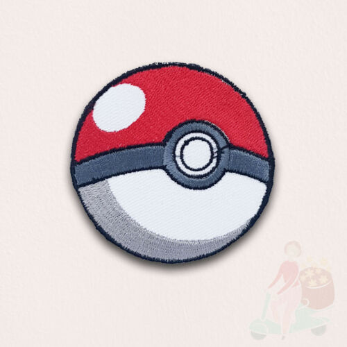 Pokemon Pokeball game cartoon Iron on Embroidered Patch