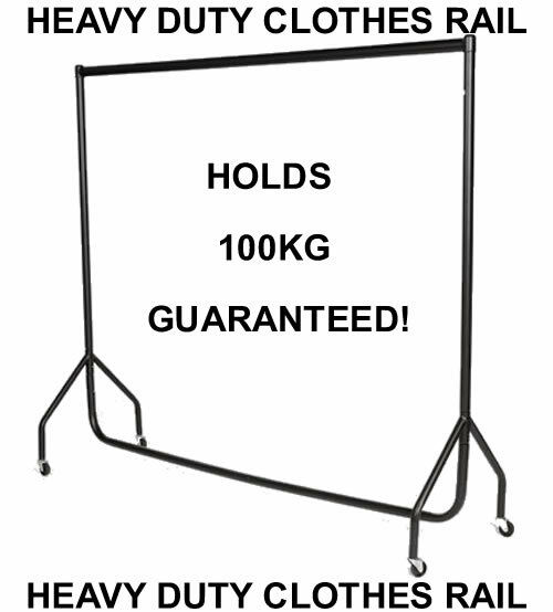3ft|4ft|5ft|6ft HEAVY DUTY RAIL CLOTHES GARMENT  RACK STAND 3|4|5|6 ft|foot|Feet