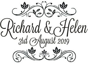 Wedding Rubber Stamping.Details About Personalised Vintage Wedding Rubber Stamp New Free Black Pad