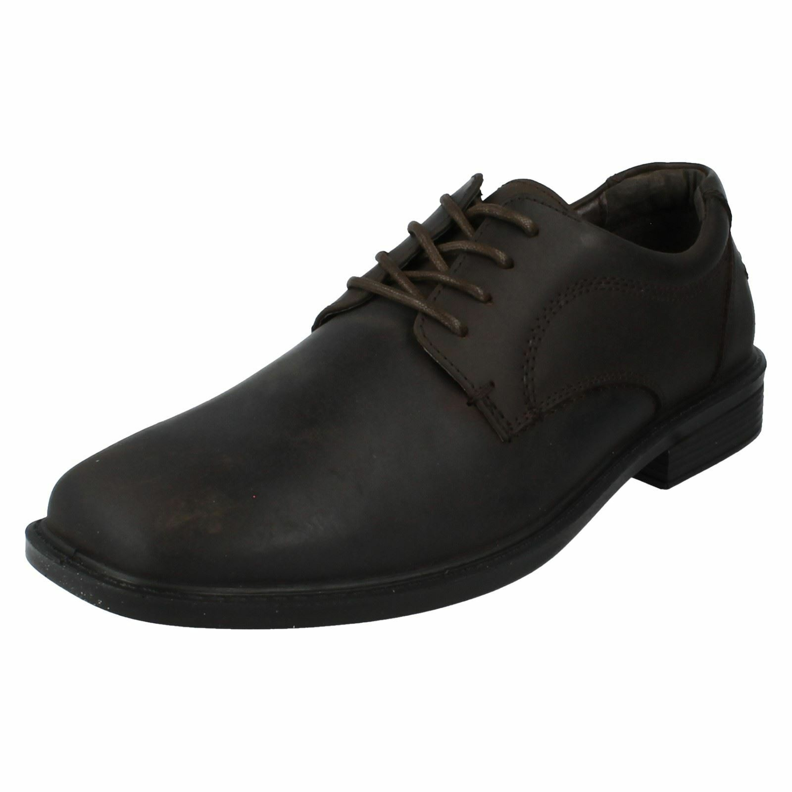 MENS HUSH PUPPIES NORWICH HP LACE UP FORMAL LEATHER BROWN SHOES SIZE 6-11