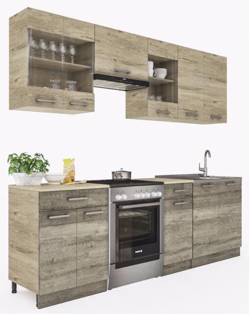 ELDORADO Martha 240 Cm Küchenzeile - Trüffel-Sonoma | eBay