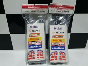 Scalextric-C274-Crash-Barriers-and-Flags-Brand-New-2-Packets-Old-Style-Barriers