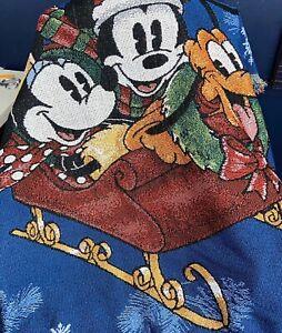 Disney Mickey Minnie Pluto Spread Christmas Cheer Tapestry ...