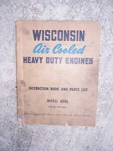WISCONSIN AENL Air Cool Heavy Duty Engine Parts Manual