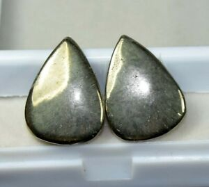 40-30-Cts-100-Natural-Pair-Of-Apache-Gold-Untreated-Cabochon-Loose-Gems