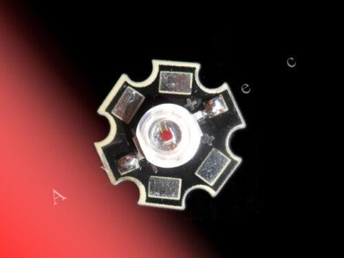 640nm//800ma 3w High Power LED en Star placa rojo 630nm 3 vatios Hi Power