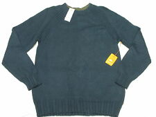 $89 NWT Mens Quiksilver Pipes Cotton Wool Blend Sweater Night Blue Size XL M597