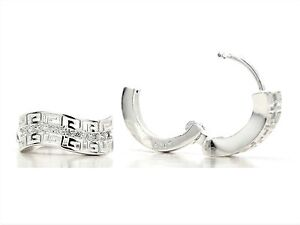 Hallmarked-egyptian-style-hoop-silver-earrings-with-white-gems-black-gift-box