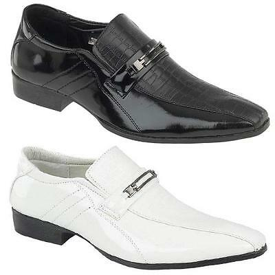 MENS SMART SHOES ITALIAN FORMAL WEDDING CASUAL PARTY DRESS BOYS OFFICE SHOE SIZE