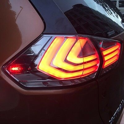 Smoke Type LED Tail Lights Rear Lamps Tail Lamps For Nissan X-Trail 2014~2016