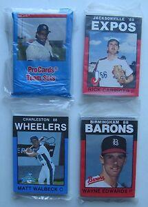 Details About 4 Minor League Baseball Card Team Sets 1989 Albany Deion Sanders Birmingham