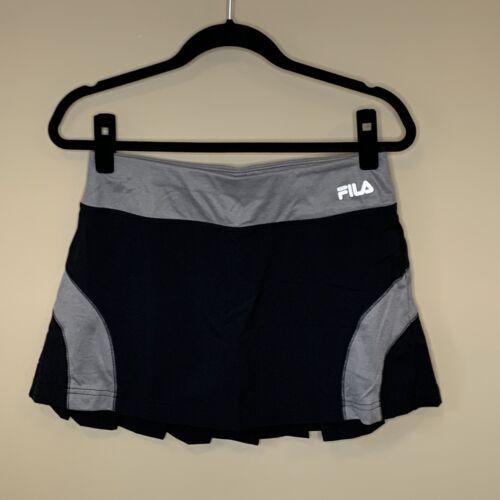 Fila Sport Black Gray Tennis Athletic Skort Shirt