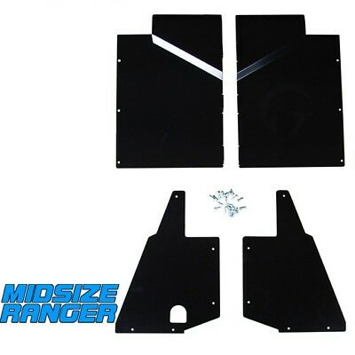 2015 /& newer Polaris Midsize Ranger Rear Mud Guard Kit PL5413-BK Black