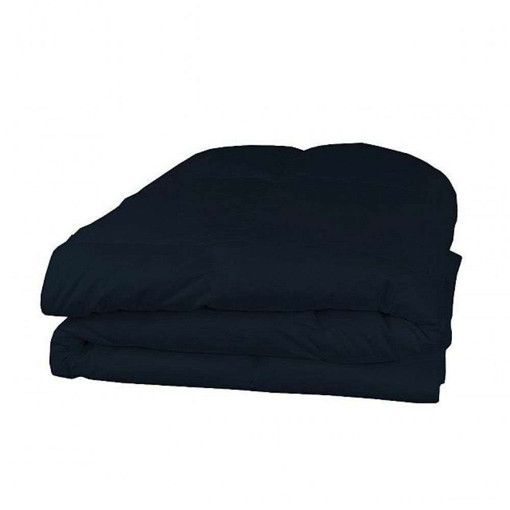 Down Alternative Comforter 1000TC EgyptianCotton 200,300GSM Solid bluee US Queen