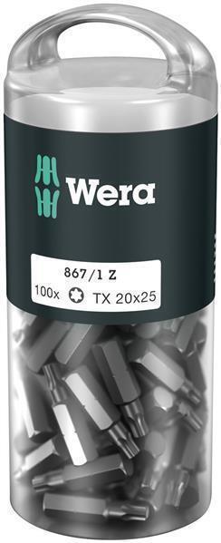 Wera 867/1 Z TORX® TX 10 DIY 100, TX 10 x 25 mm (100 Bits pro Box)
