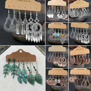 Boho Gypsy Tribal Ethnic Earrings Set Drop Dangle Festival Party Women Jewelry