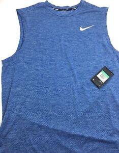 Nike-Mens-Running-Tank-Breathe-AJ4530-443-Size-Small-Blue
