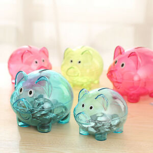 Transparent-Cute-Pig-Shaped-Bank-Coin-Money-Cash-Collectible-Saving-Box-Toy