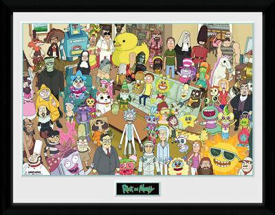 Morty Poster Mr Tiny Rick Gb Eye Ltd Rick And Morty Framed Print 30x40cm