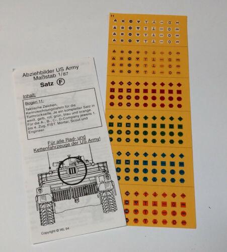 Roco Minitanks Abziehbilder Decals Satz F Bumper Codes US Army Herpa 1:87