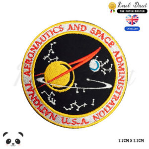 NASA-Administration-USA-Badge-Embroidered-Iron-On-Sew-On-Patch-Badge
