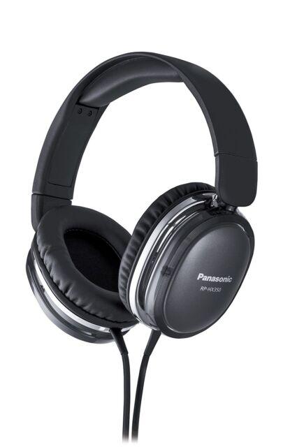 Panasonic Japan Dynamic Stereo Headphone with powerful bass RP-HX350-K Black