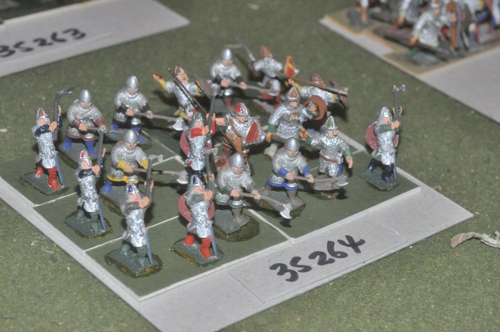 25mm dark ages   anglo-danish - huscarls 18 figures - inf (35264)