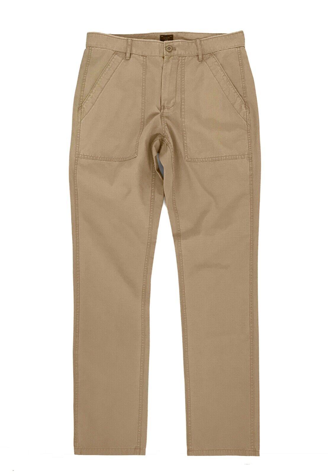 J.Crew Men's 34 32 - NWT - Light-Wt 770 Straight Fit Khaki Ripstop Camp Pants