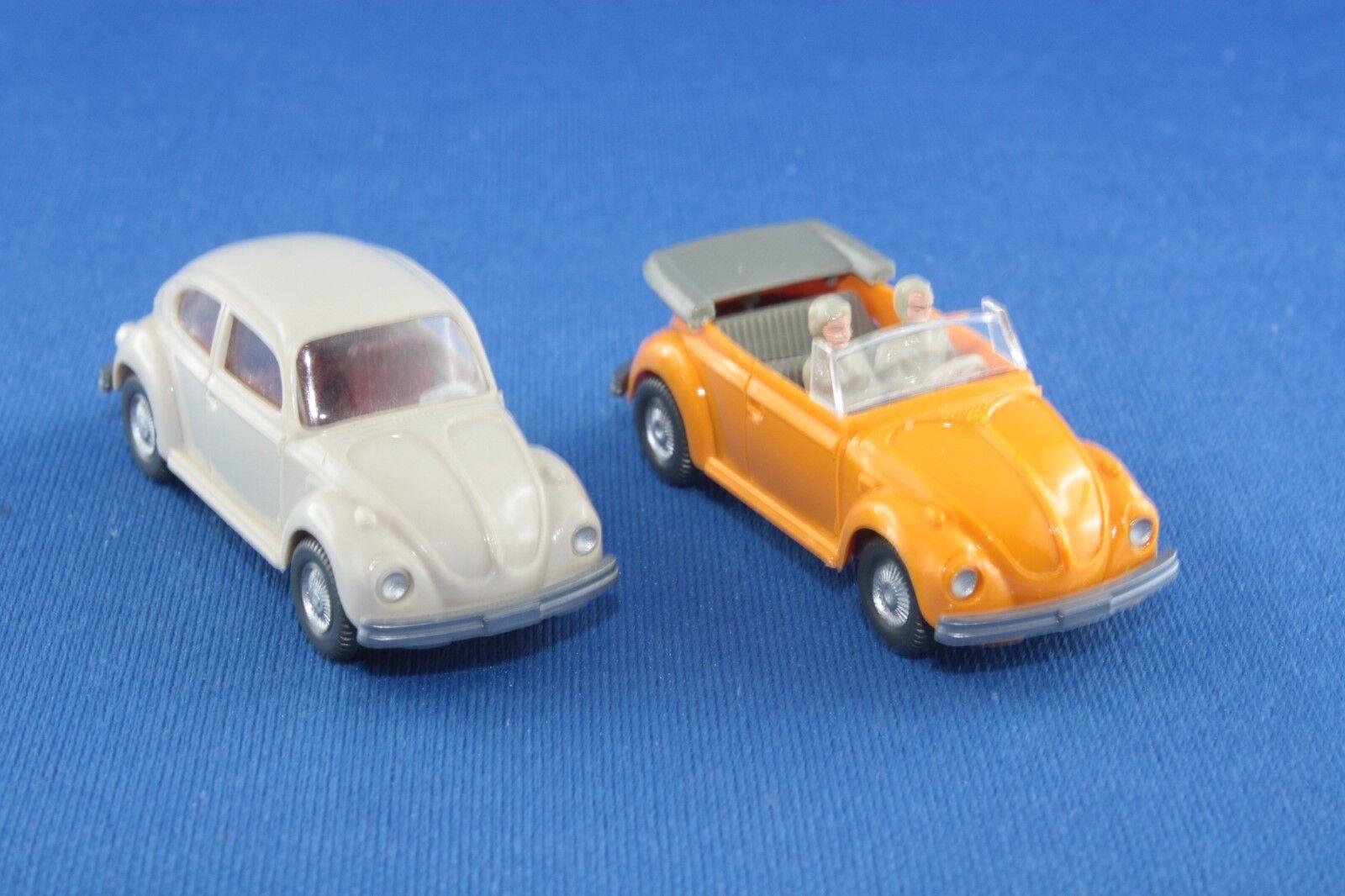2er-set Wiking VW Beetle + Coccinelle cabriolet 1 87 1 90 h0 O. neuf dans sa boîte COLLECTION résolution
